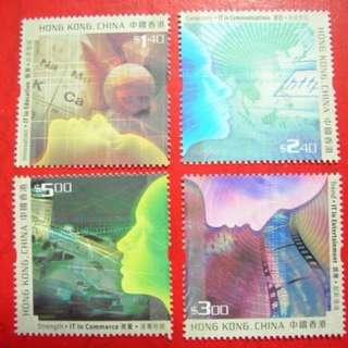 香港 2002年 「香港數碼新紀元」郵票(面值$11.8, 可作郵資使用)