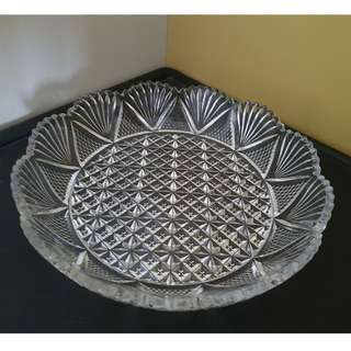 Vintage retro glass plate dish coaster