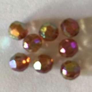 Purple-Bronze Iridescent Beads: Small