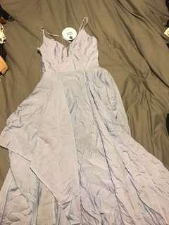 Sexy layered steel blue dress.  Size 6