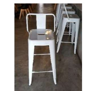 Glossy White Bar Stool
