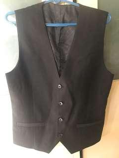 Men Waistcoat / Vest Black