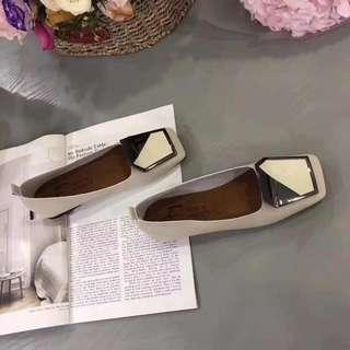 White Leather Korean Shoes