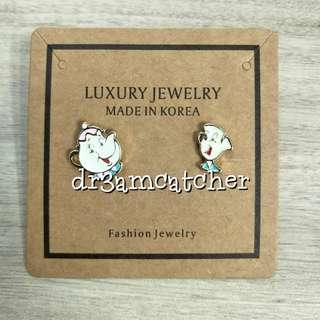 Disney Mrs Potts and Chip earrings