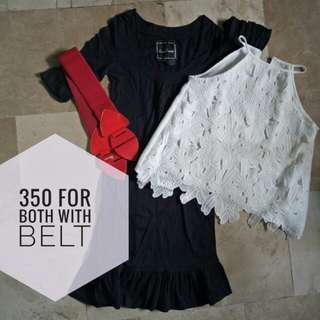 Dress plus blouse with free belt