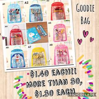 Children Goodie Bag and stationery set