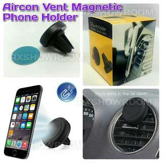Aircon Vent secure magnetic phone holder.