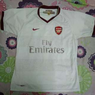 Nike Arsenal FC 2007 / 2008 Away Jersey with FABREGAS 4 Nameset