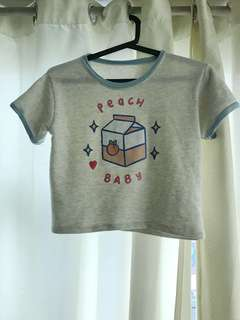 Peach baby cropped top