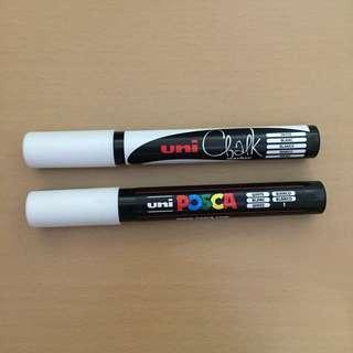 Uni Posca & Chalk White Marker