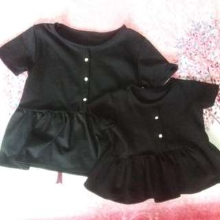 Peplum black dress Matchy