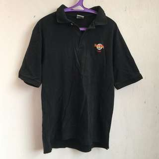 Hard Rock Cafe Paris Mens Polo T-Shirt W20in x L27in