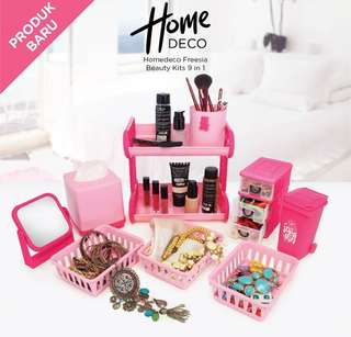 Tempat Make up - Homedeco Freesia Beauty Kits (isi 9 pcs)