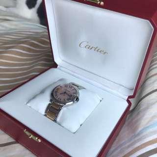Cartier w6920033 full set ballon bleu 36mm rose gold
