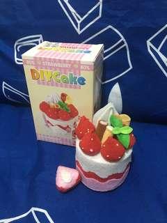 手作製成品 絨布DIY 草莓蛋糕 Strawberry Cake