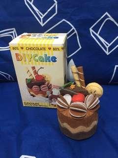 手作製成品 絨布 DIY 朱古力蛋糕 Chocolate Cake