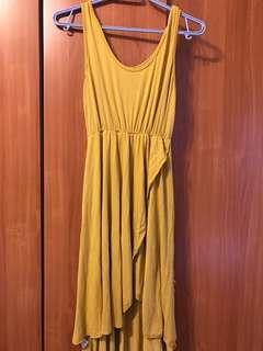 🚚 黃色長洋裝