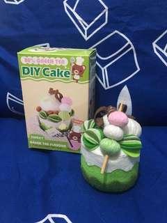 手作製成品 DIY 絨布 綠茶蛋糕 Green Tea Cake