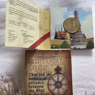 Portugal Commemorative 200 Esc coins (4 pc in holder)