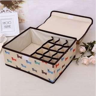 Storage box underwear & bra motif animal