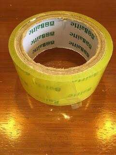 Large scotch tape- used twice