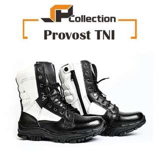 Sepatu PDL provost TNI 100% kulit sapi asli motif jeruk
