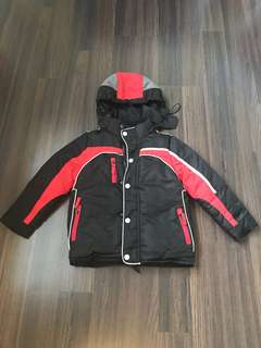 Winter Time Boy Sporty Down Jacket Parka