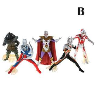 Japanese Anime Figures Ultraman Monster Figures 12cm 5Pcs Pvc Action Figure