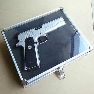 Airsoft gun R28 silver with aluminum case