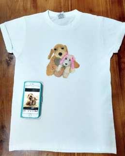 Handpainted Tshirt art / fabric art