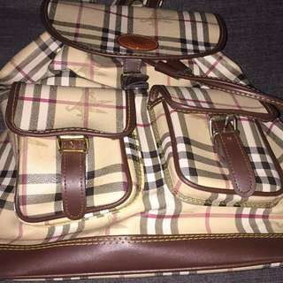 Burberry backpack(nego price)