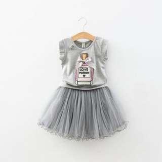 Love Potion Tshirt with Tutu Skirt