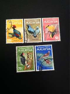 Malaysia 1965 National Birds Series 5V Used (0397)