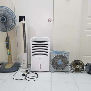 Lot of 6 fans for clearance