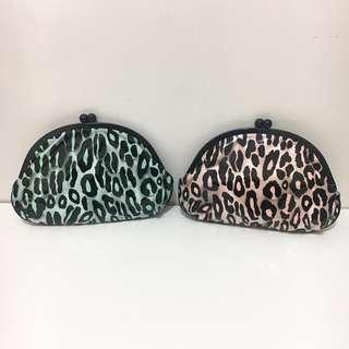 MAC L. Goldwyn 豹紋化妝袋2個 Animal Print Makeup Bag