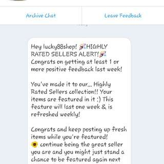 Highly Rated Seller 😊