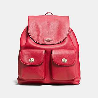 Authentic Coach F37410 Billie Backpack in Pebble Leather