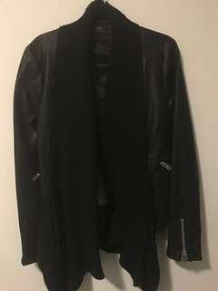 Bardot leather jacket size 12
