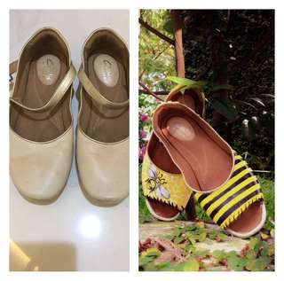 Hand painted bumble bee shoes