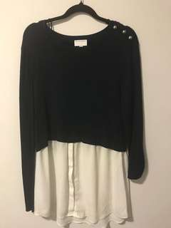 Witchery jumper with button detail