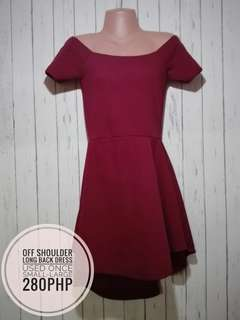 longback off shoulder Dress
