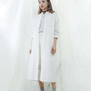 rococo 白色網紋闊褲