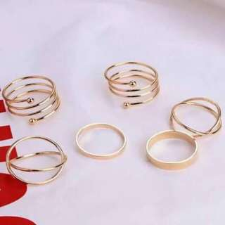 6pcs Ring Set♡