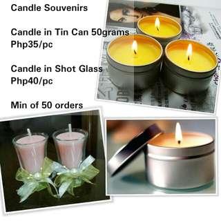 Candle Souvenirs