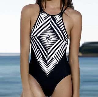 Tribal Print Swimsuit