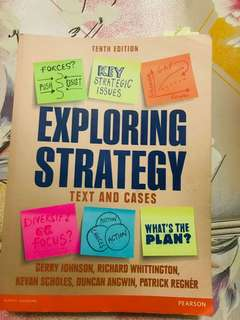 Exploring Strategy: Text & Cases 10th Revised ed. Edition
