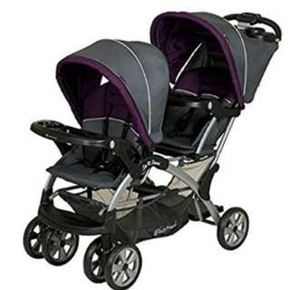 Twin stroller, double stroller sit and stand stroller, dual stroller