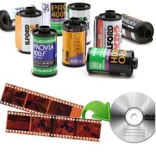 120mm & 35mm Film Scanning Service
