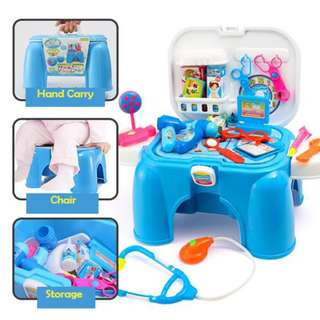 Portable Pretend Play&Carry Doctor PlaySet 2in1
