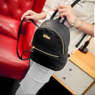 [PO] Small Black Leather Backpack